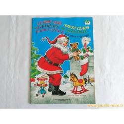 Le Père Nöel coloriage vintage