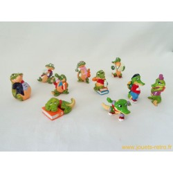 "lot figurines Kinder ""Crazy crocos"""