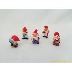 """lot figurines Kinder """"lutins"""""""