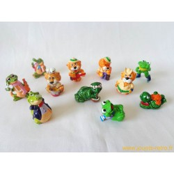 "lot figurines Kinder ""tortues"" ""Leoventuras"" ""Crazy Crocos"" ""Grenouilles"""