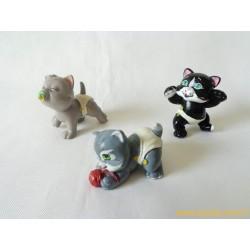 """Magic Babies"" lot de 3 figurines animaux chats"