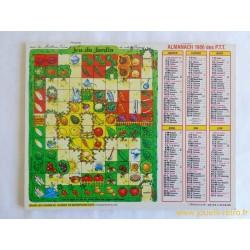 "Almanach des PTT 1986 ""jeu du jardin"""