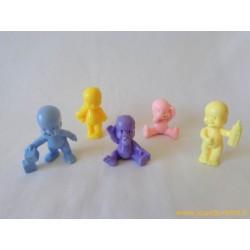 """""""Les Babies"""" lot de 5 figurines pastel"""