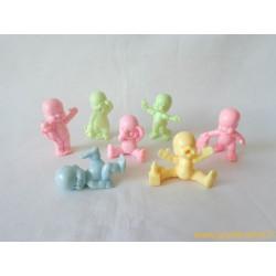 """""""Les Babies"""" lot de 7 figurines pastelles"""