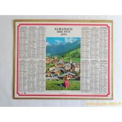 """Almanach des PTT 1972 """"La Clusaz"""""""
