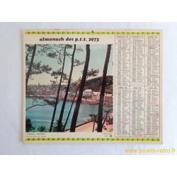 """Almanach des PTT 1973 """"Audierne"""" """"Espalion"""""""