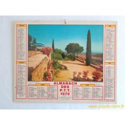 """Almanach des PTT 1978 """"Cote d'Azure"""" """"Josselin"""""""