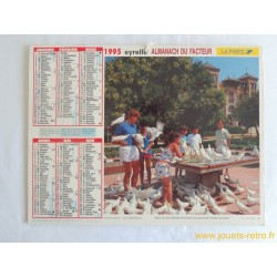 """Almanach du facteur 1995 """"enfant-oiseaux"""""""