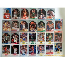 Lot cartes NBA 1989 1990 Fleer Hoops