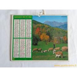 """Almanach des PTT 1980 """"vallée de l'Ubaye"""""""