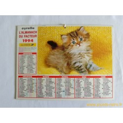 "Almanach du facteur 1994 ""chat"""