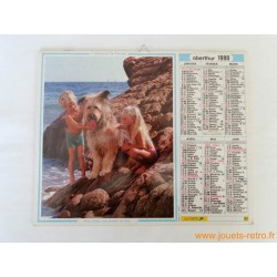 "Almanach du facteur 1990 ""Photos enfants animaux"""