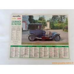 """Almanach du facteur 1991 """"Vieux tacots"""""""