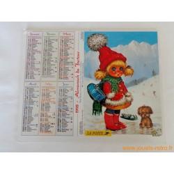 """Almanach du facteur 1998 """"Poulbots"""""""