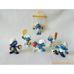"Lot figurines Schtroumpfs ""sportifs"" Peyo"