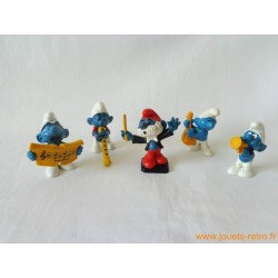 "Lot figurines Schtroumpfs ""orchestre"" Peyo"