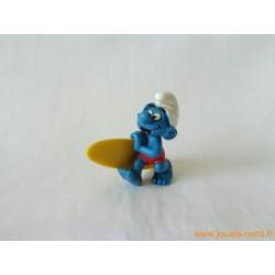 """figurine Schtroumpfs """"surfeur"""" Peyo"""