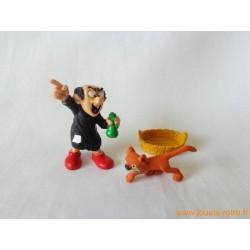 "Lot figurines Schtroumpfs ""Gargamel et Azrael"" Peyo"