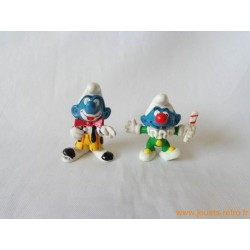 "Lot figurines Schtroumpfs ""clowns"" Peyo"