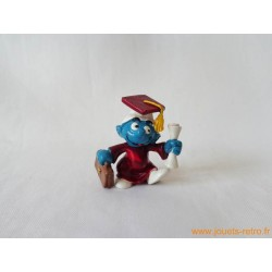 "figurine Schtroumpfs ""diplomé"" Peyo"