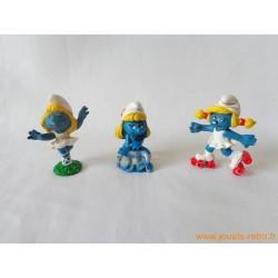 """Lot figurines Schtroumpfs """"Schtroumpfettes"""" Peyo"""