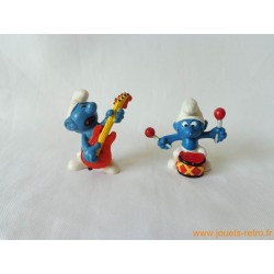 "Lot figurines Schtroumpfs ""musique pop"" Peyo"