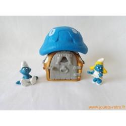 Maison des Schtroumpfs champignon bleu