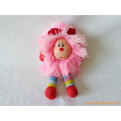 "Peluche Rainbow Brite ""rose"" 20 cm Mattel 1983"
