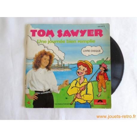 """Tom Sawyer """"une journée bien remplie"""" - Livre disque 45t"""