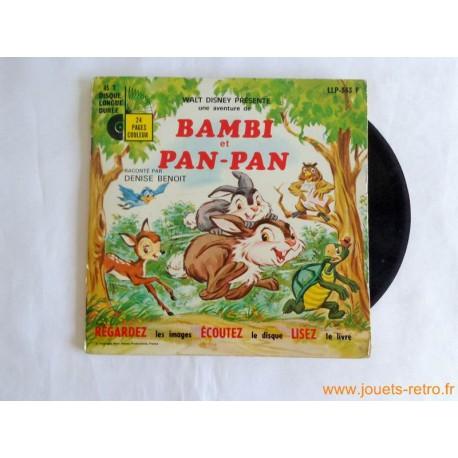 Bambi et Pan-Pan - Livre disque 45t