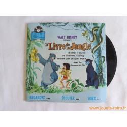 Le livre de la jungle - Livre disque 45t