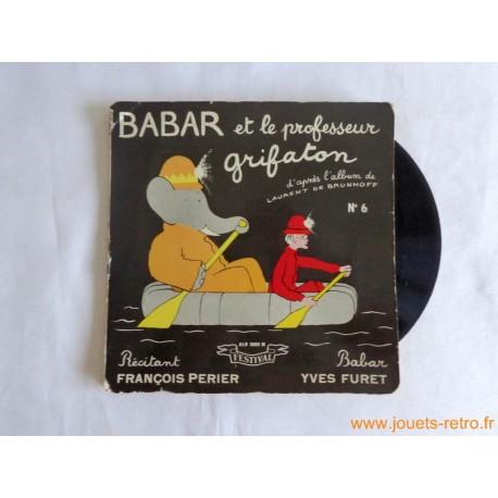 Babar et le professeur grifaton - Livre disque 45t
