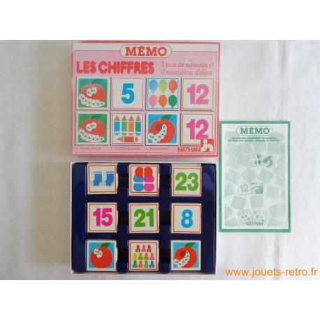 """Mémo """"Les chiffres"""" - jeu Nathan 1985"""