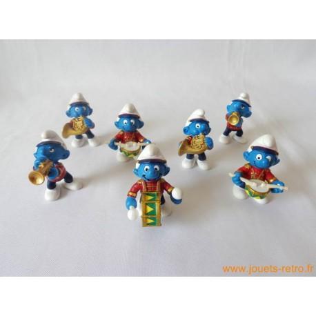 "Lot figurines Schtroumpfs ""fanfare"" Peyo"