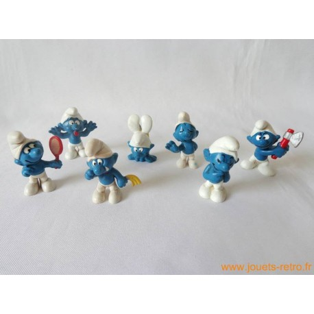 """Lot figurines Schtroumpfs """"expressions"""" Peyo"""