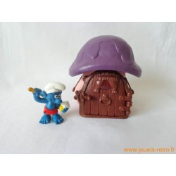 Maison des Schtroumpfs champignon + 1 figurine