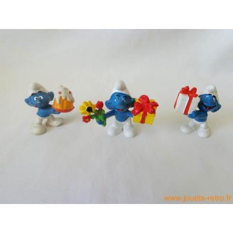 """Lot figurines Schtroumpfs """"cadeaux"""" Peyo"""
