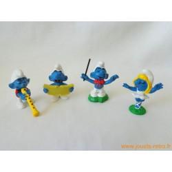 """Lot figurines Schtroumpfs """"musique"""" Peyo"""