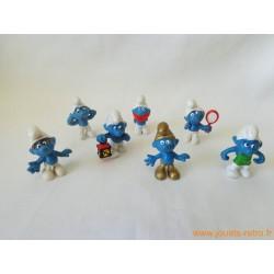 "Lot figurines Schtroumpfs ""divers"" Peyo"