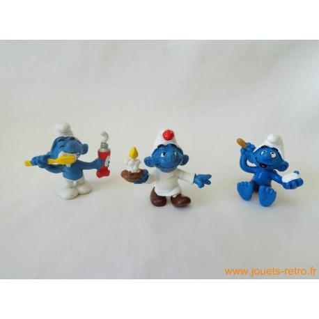 "Lot figurines Schtroumpfs ""dodo"" Peyo"
