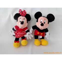 "Lot peluches ""Mickey et Minnie"" Disneyland Paris"