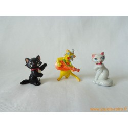 "Lot fiurines ""Les Aristochats"""