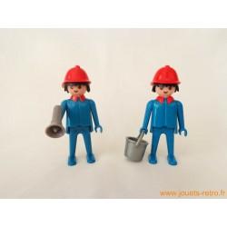 "Lot figurines Klicky ""Pompiers"" Playmobil 1974"