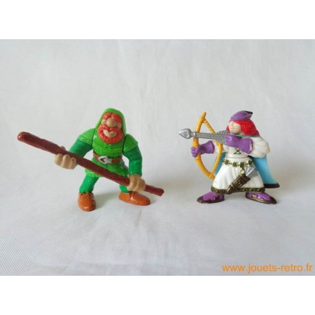"""Lot figurines """"chevaliers"""" Fisher Price 1998"""