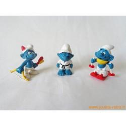 "Lot figurines Schtroumpfs ""sport"" Peyo"