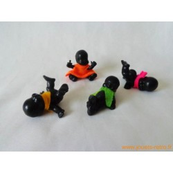 """""""Les Babies"""" lot de 4 figurines noires"""