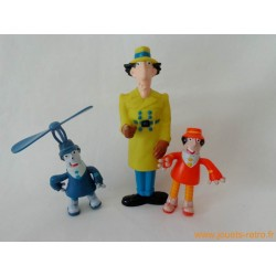 "Lot figurines ""Inspecteur Gadget"""