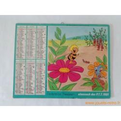 Almanach des PTT 1981 Maya l'abeille