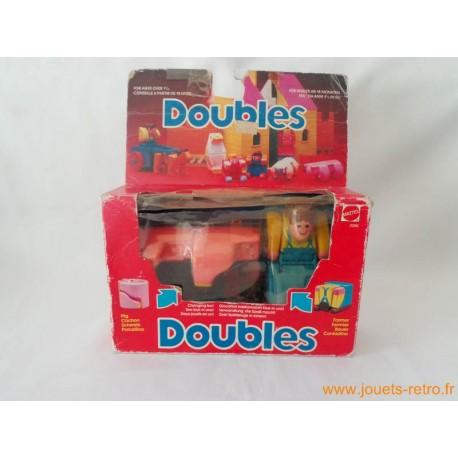 """Doubles """"cochon / fermier"""" Mattel"""