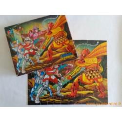 """Puzzle """"Les chevaliers de zodiaque"""" MB 1989"""